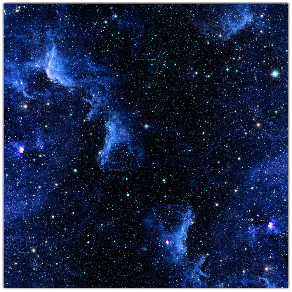 Blue Nebula Wargaming Play Mat – 36x36 Inch Table Top Roleplaying and Miniature Battle Game Mat Great for Warhammer 40k Star Wars Minis Warmachine Polyester with Anti-Slip Rubber Backing