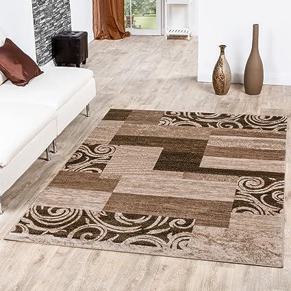 Tappeto Conveniente Design Patchwork Tappeto Moderno Per Soggiorno Beige  Crema, Größe:120x170 cm