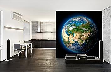 AuBergewohnlich PVC Fototapete U2013 ECO Wandbild Selbstklebende Tapete U2013 3D Vinyl Wandsticker    Erde Im Weltraum SW340