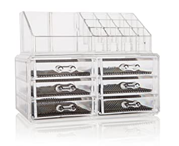 Amazoncom Clear Cosmetic Makeup and Jewelry Organizer by KP