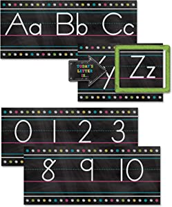 Teacher Created Resources TCR5621 Chalkboard Brights Alphabet Line Bulletin Board St, Paper, Multi
