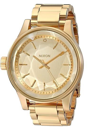 Nixon A384502 - Reloj de pulsera Mujer, acero inoxidable, color Oro