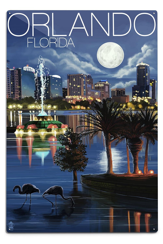 【激安セール】 オーランド、フロリダ州 – Sign 夜のスカイライン 12 12 x 18 Metal Sign 18 LANT-36394-12x18M B06Y1M6KBY 12 x 18 Metal Sign, anerca&L.I.V:04b797f4 --- 4x4.lt