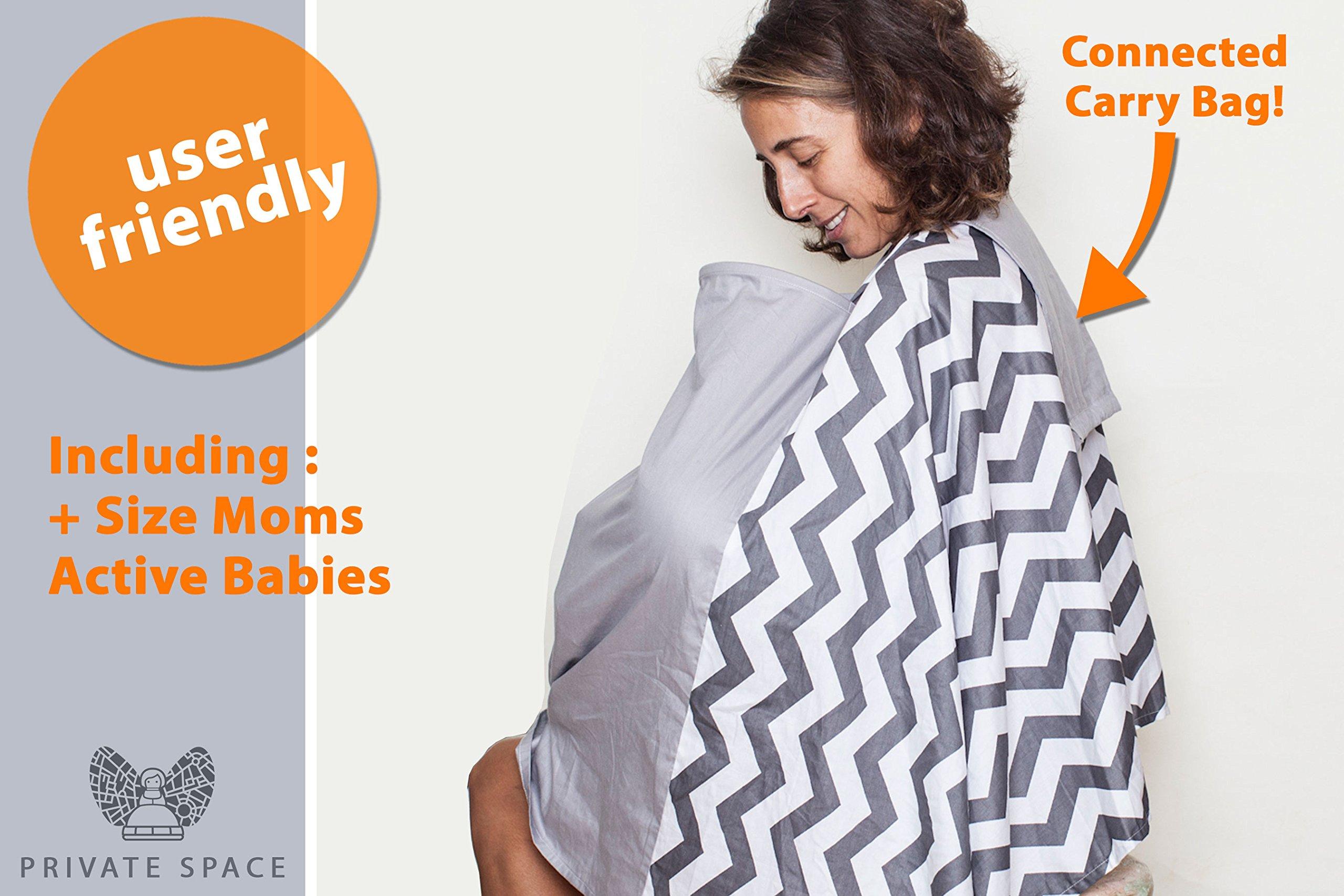 Fair-e-Trade Poncho Rigid Neckline Nursing Cover, 100% Premium Breathable Cotton by Fair-e-Trade (Image #4)