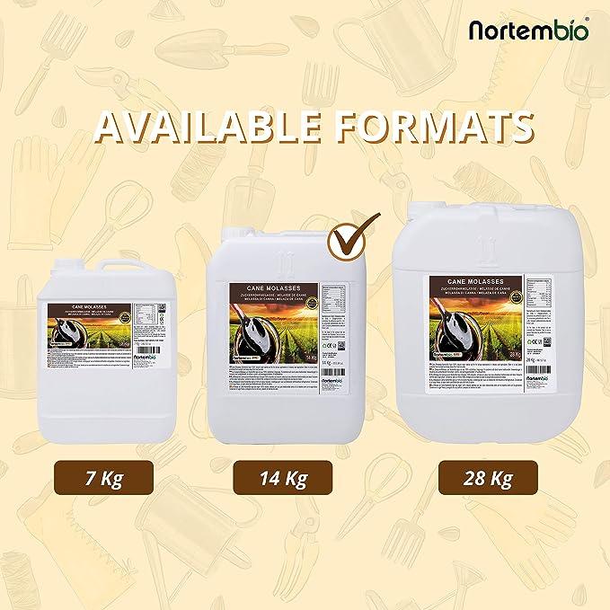 NortemBio Agro Melaza de Caña 14 Kg. 100% Natural. Favorece el Crecimiento de Cultivos. Uso Universal. No Sulfurada. Producto CE.: Amazon.es: Jardín