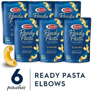 6-Pack Barilla Ready Pasta, Elbows Pasta, 8.5 Ounces