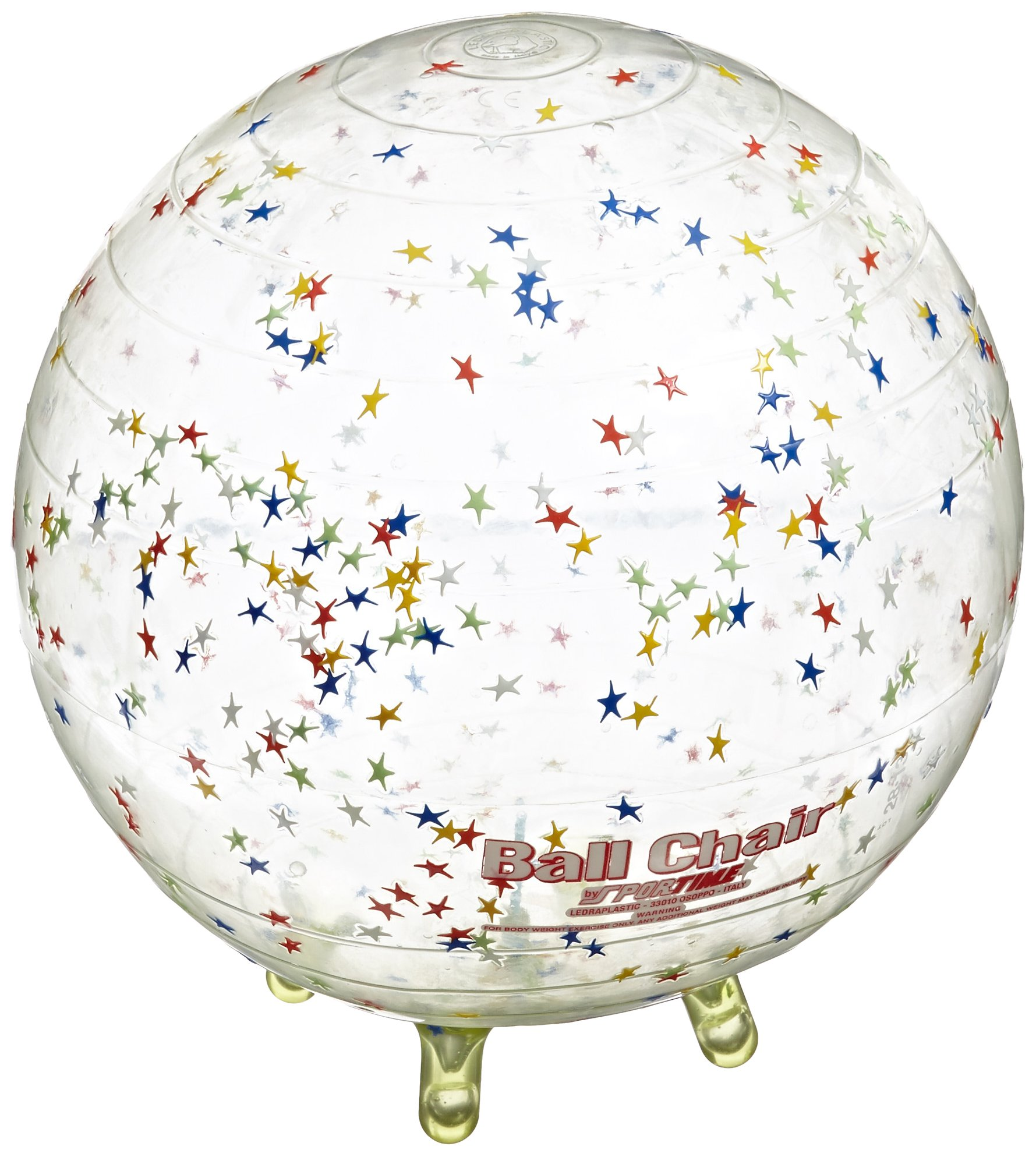 Gymnic Sit'N'Gym Therapy Ball with Built in Legs, 13-1/2 Inches, Clear with Stars