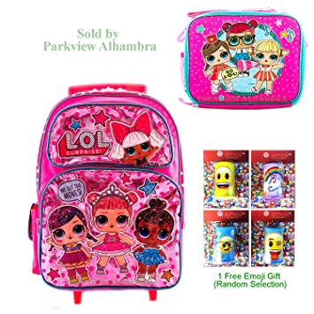 Amazon com   L O L Surprise! Backpack with Lunch Box Travel Picnic