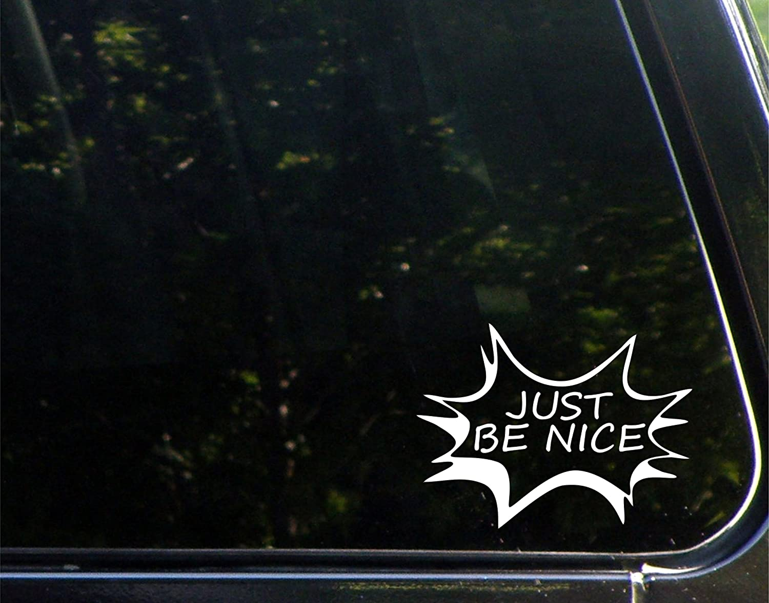 "Just Be Nice! - 8-3/4"" x 3-1/2"" - Vinyl Die Cut Decal/Bumper Sticker for Windows, Cars, Trucks, Laptops, Etc."