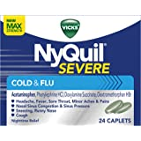 Vicks NyQuil SEVERE Cough Cold and Flu Nighttime Relief, 24 Caplets