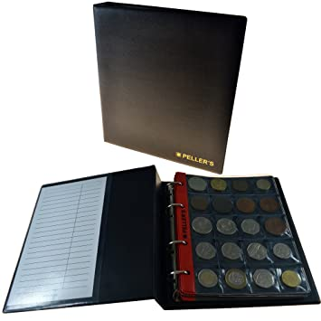 Sammelalbum Für 200 Münzen 10 Münzhüllen Felder 35 X 40 Mm Für