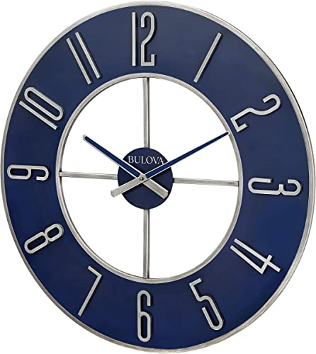 Bulova Steel Oversize Wall Clock