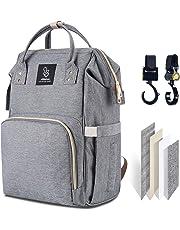 Athelain Bolso cambiador para bebé, tamaño grande, multifunción, impermeable, mochila de viaje