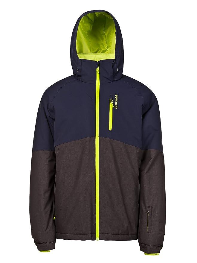 Ropa de esquí neón chaqueta de nieve para hombre