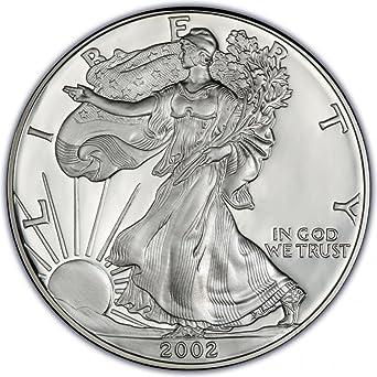 BU Silver Dollar Coins 2002 American Eagle 1 oz