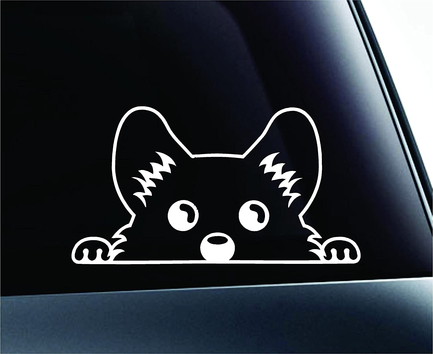 Amazoncom Corgi Peeking Dog Symbol Decal Funny Car Truck Sticker - Window decals amazon