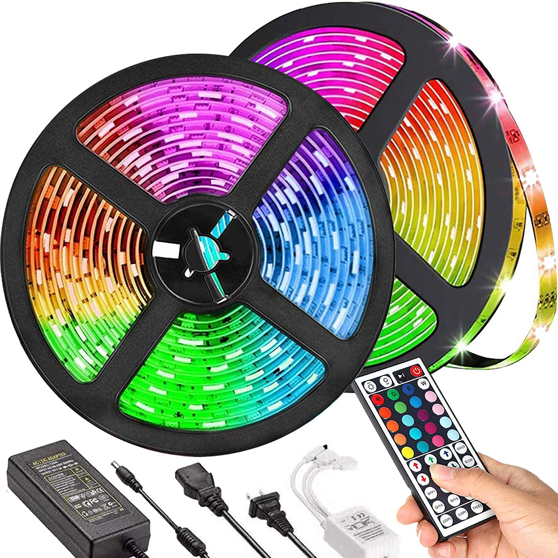IR Remote 12V Power Kit 1-10M RGB 5050 SMD Waterproof LED Light Strip Flexible