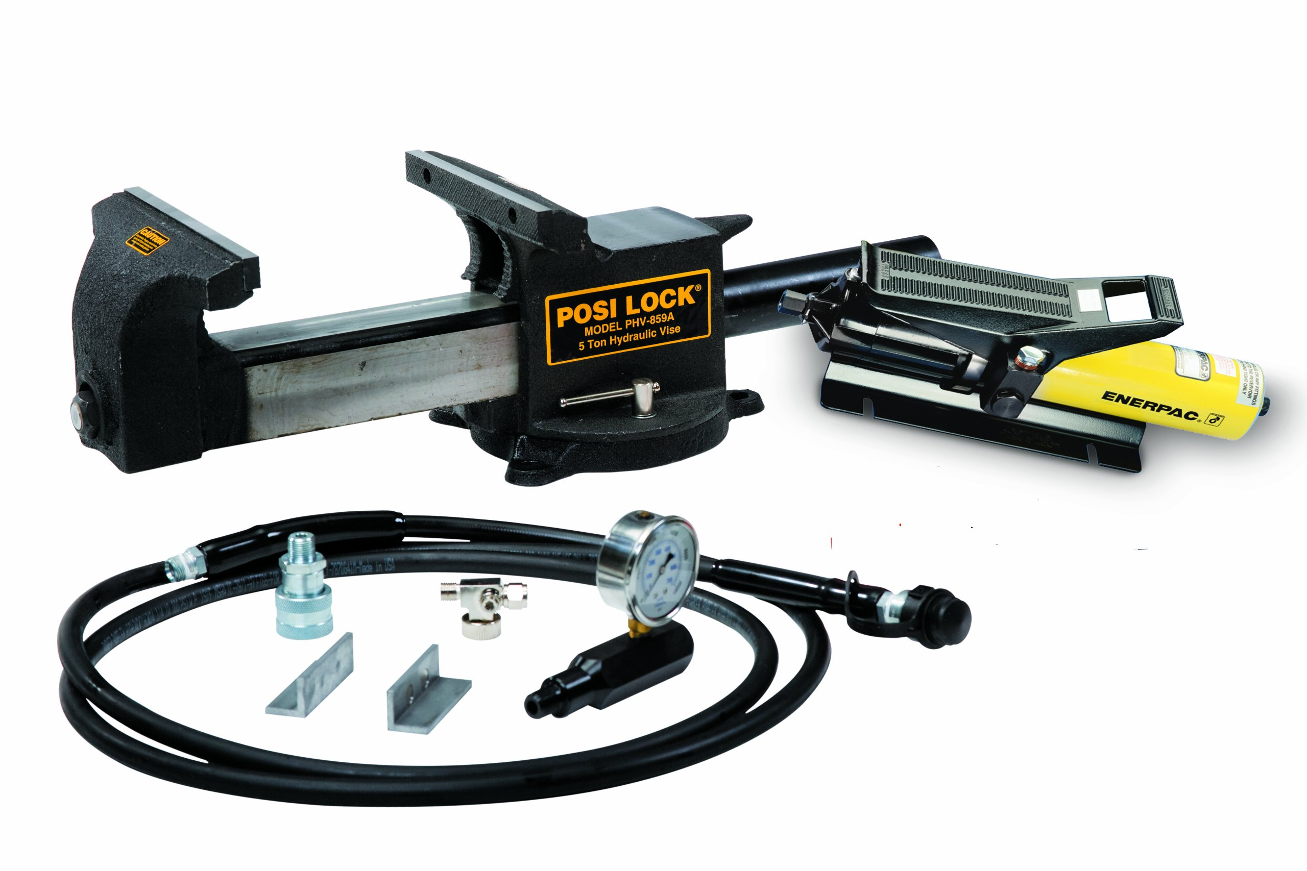 Posi Lock PHV859A Puller Hydraulic Bench Vise, 5 tons Capacity
