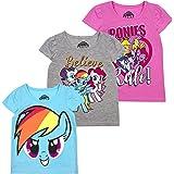 My Little Pony Hasbro Twilight Girls' Short Sleeve T-Shirt (Pack of 3)