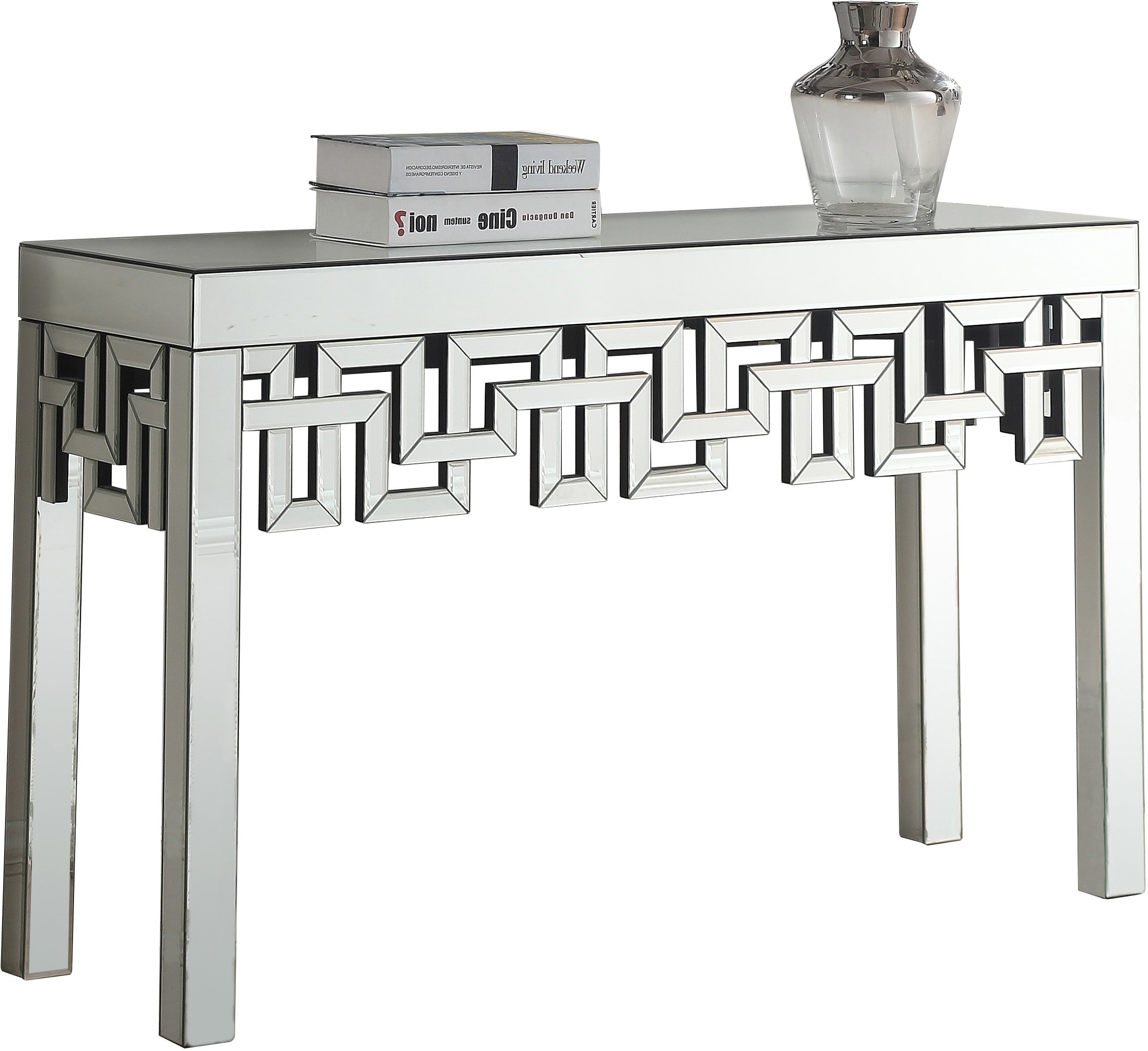 Meridian Furniture Aria Collection Modern | Contemporary Mirrored Console Table, 48'' W x 15.5'' D x 30'' H, by Meridian Furniture