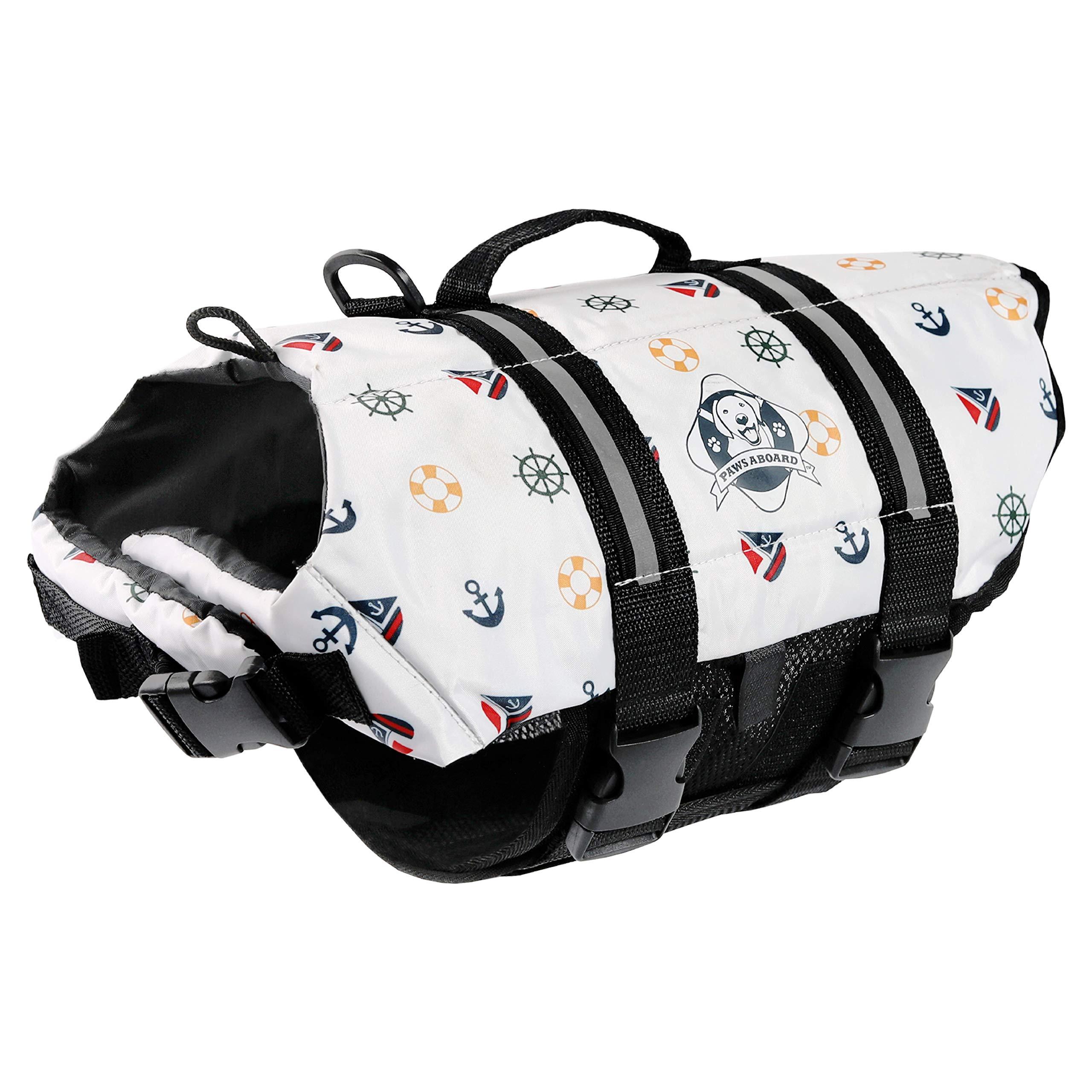 Paws Aboard XXS Designer Doggy Life Jacket, Nautical print