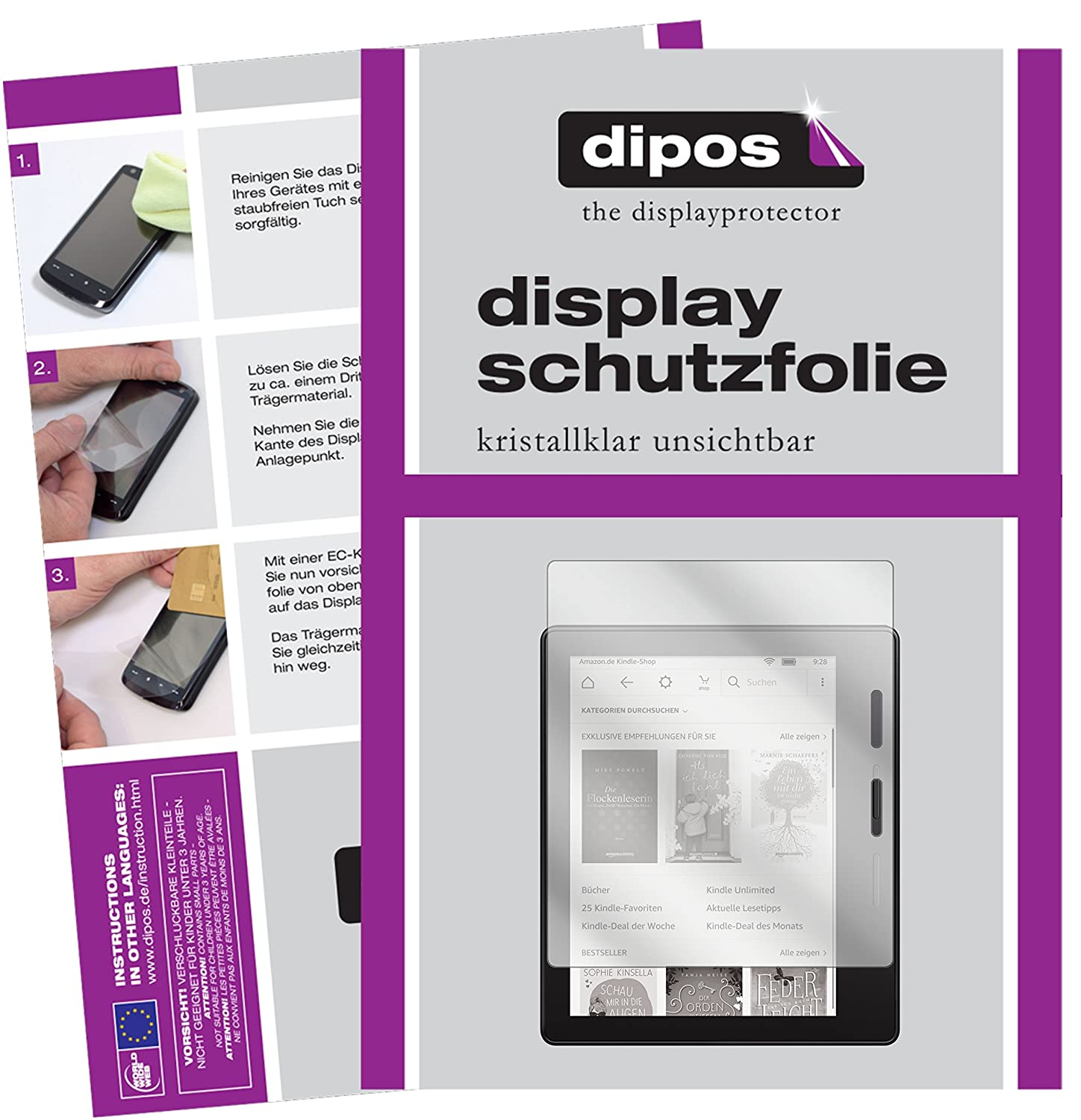 dipos I 2X Protector de Pantalla Compatible con Amazon Kindle ...