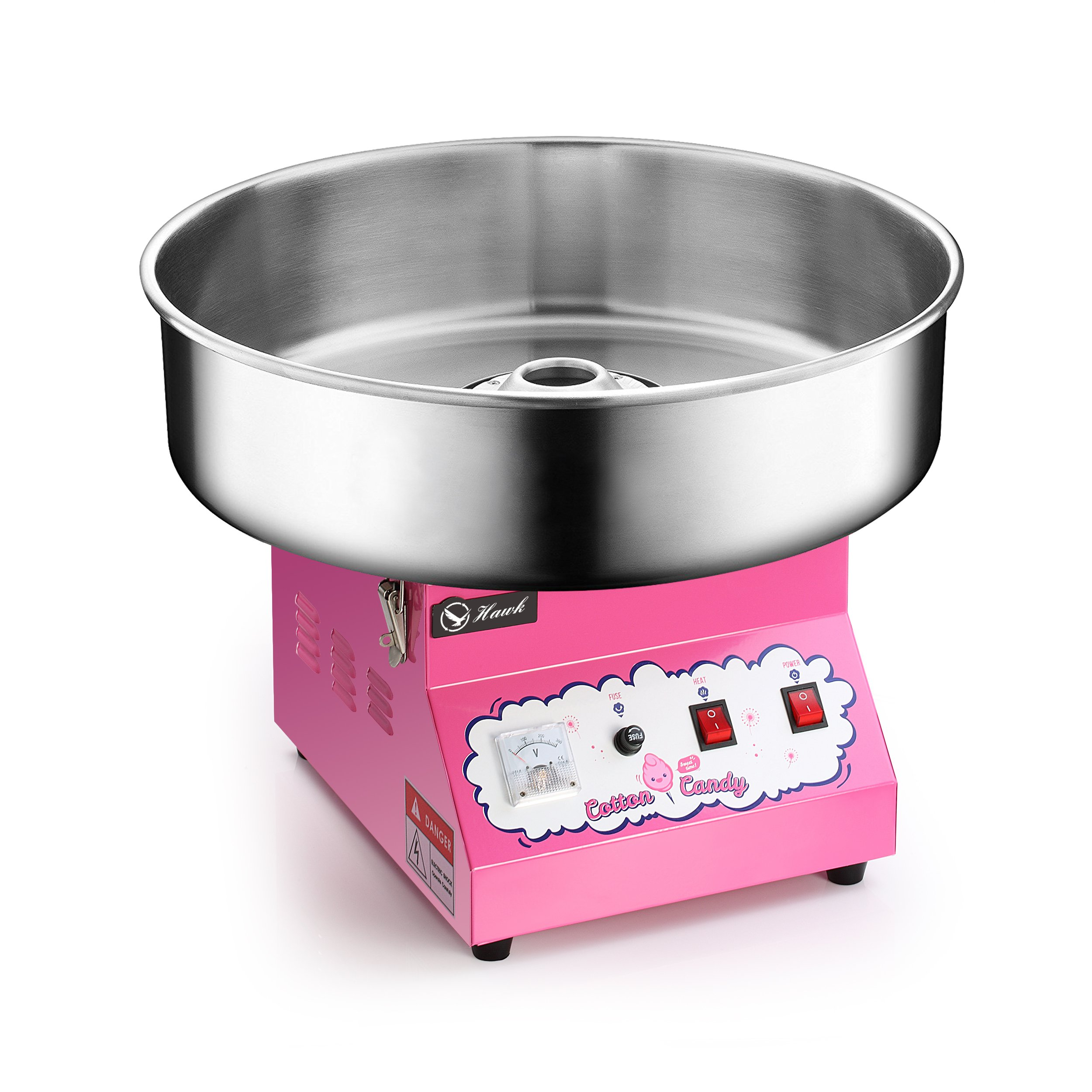 Electric Commercial Cotton Candy Machine / Candy Floss Maker Pink