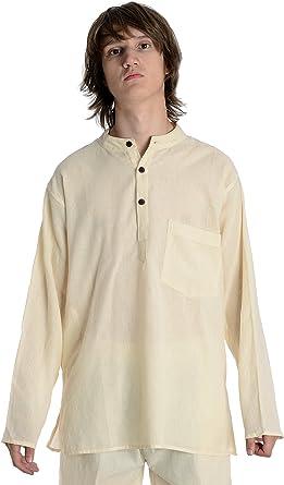 HEMAD Camisa de pescador - Nepali Kurta - Algodón ligero – S-XXXL ...