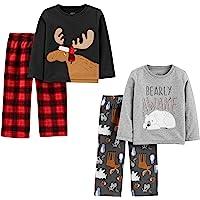 Simple Joys by Carter's Conjunto de Pijama de 4 Piezas (Parte Superior de Poliéster Y Parte Inferior de Vellón) Infant…