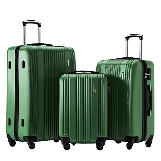 62d7367cac0a TBWYF Luggage Set 3 Piece Set Suitcase set Spinner Hard shell Lightweight…