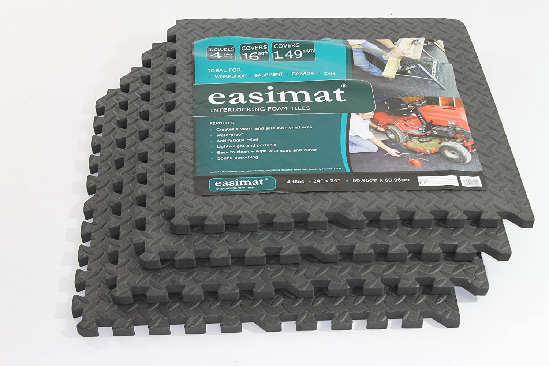 Interlocking anti fatigue floor tiles 32 sq ft d easimat brand climbing frame swing safety mats 16sq ft t doublecrazyfo Choice Image