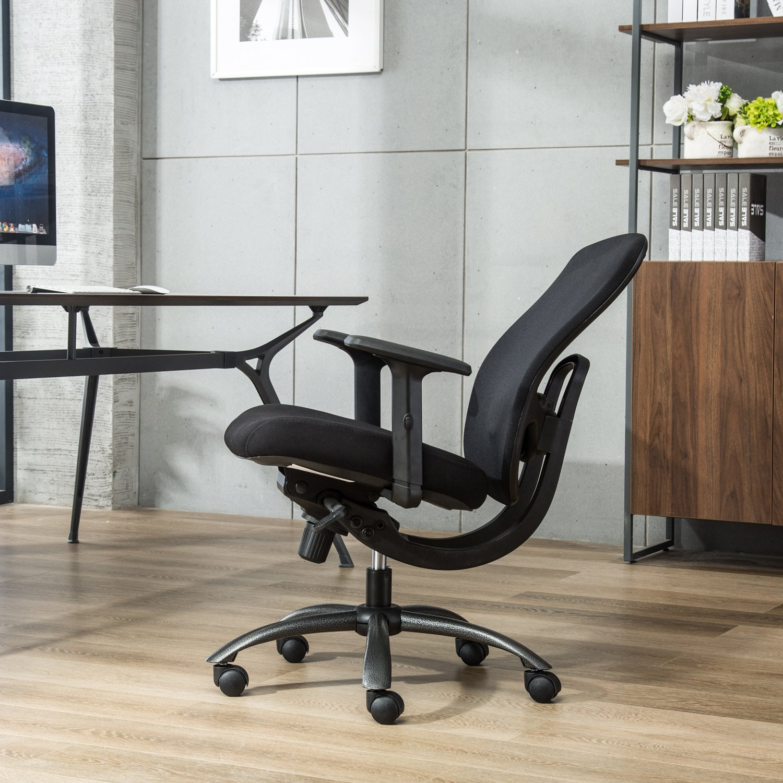 Amazon LONGEM Mid Back Mesh fice Chair Adjustable Angle Recline Locking System Ergonomic Back Lumbar Support and PU Armrest puter Desk Task