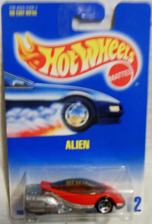Alien 1995 Hot Wheels #62 Red//silver W//5 Spokes MATTEL