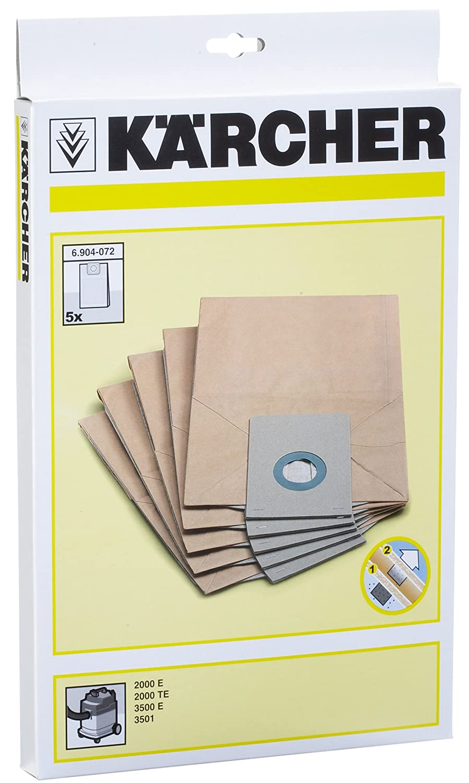 10 Filterbeutel Staubsaugerbeutel für Kärcher 2000 E TE 3500 E 3501 Sauger