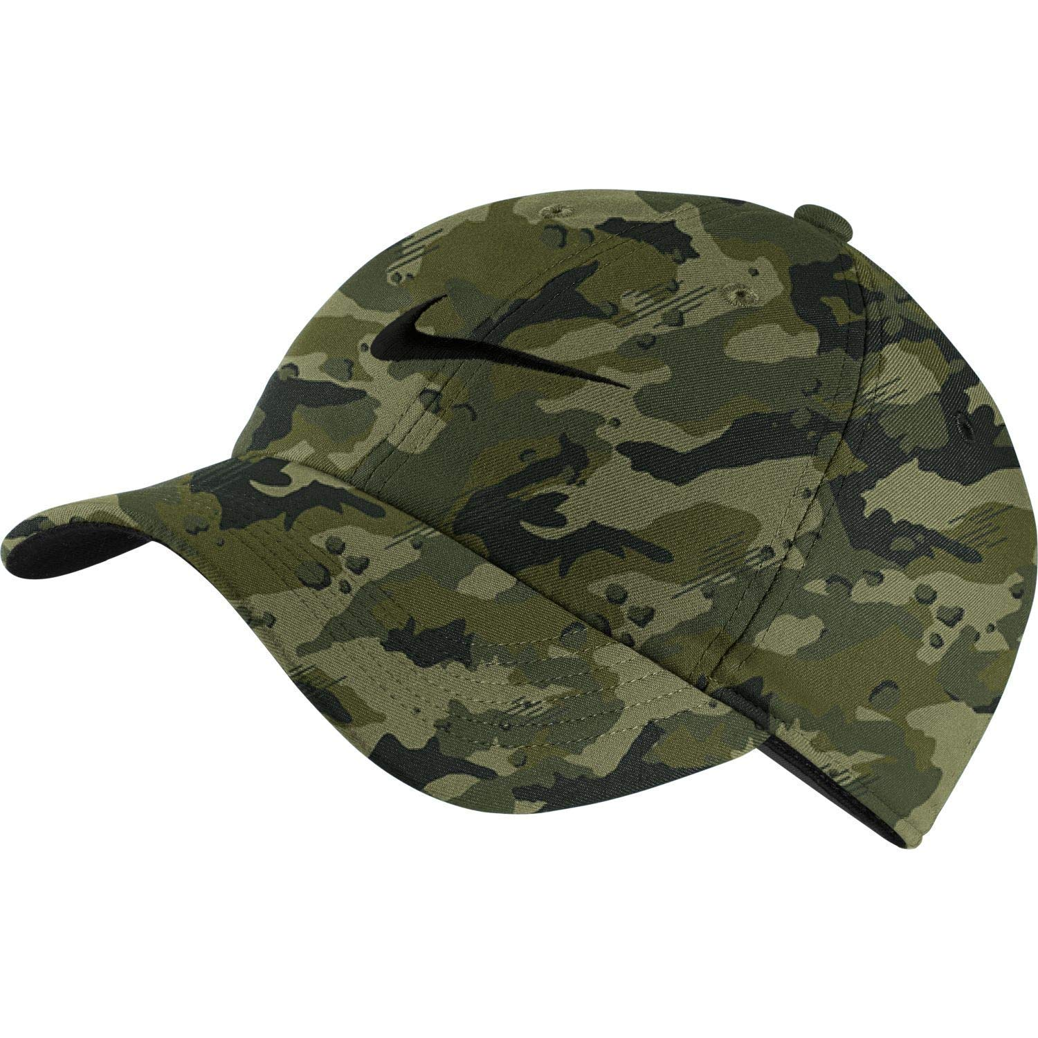 fa796be1 Nike Unisex Arobill H86 Adjustable Twill Hat Neutral Olive CAMO/Black  729507-209 at Amazon Men's Clothing store: