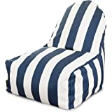 Majestic Home Goods Kick-It Chair, Vertical Stripe, Navy Blue