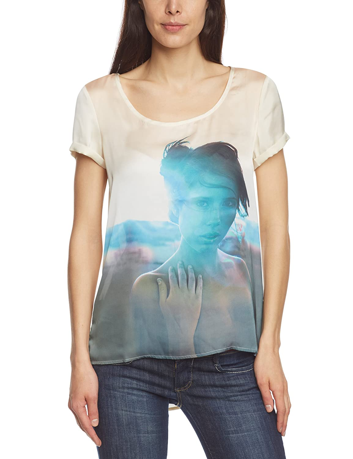 Only - T-Shirt ONLY Grunge blue - 34