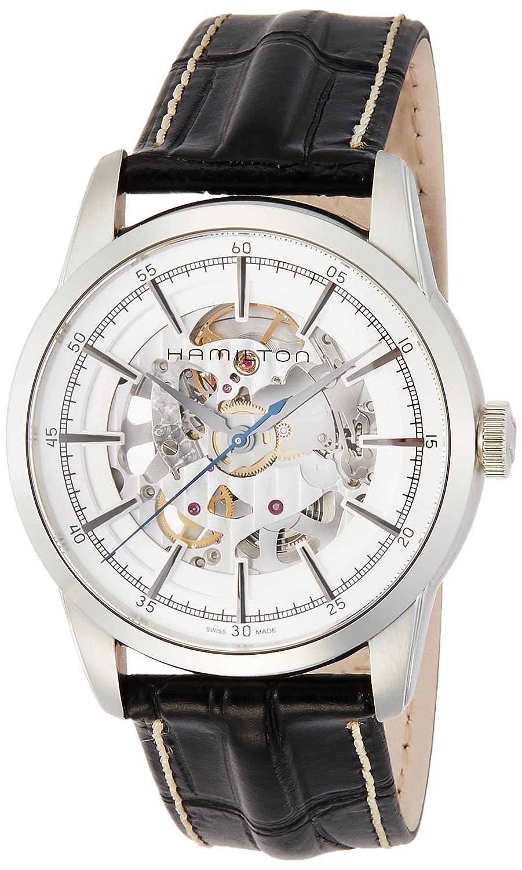 [ハミルトン]HAMILTON 腕時計 レイルロード スケルトン 機械式自動巻き H40655751 メンズ 【正規輸入品】 B0178T3B4M