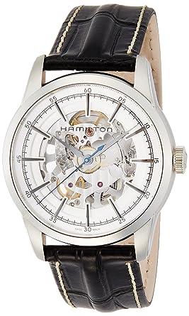meet 7bc0c 2e6f5 [ハミルトン]HAMILTON 腕時計 正規保証 レイルロード スケルトン 機械式自動巻き H40655751 メンズ 【正規輸入品】