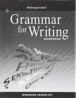 Amazon mcdougal littell literature grammar for writing mcdougal littell literature grammar for writing workbook answer key grade 8 fandeluxe Gallery