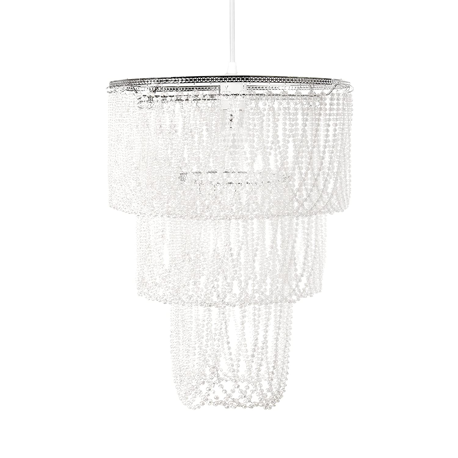 Amazon Tadpoles Pearlized Beaded Triple Layer Pendant Light
