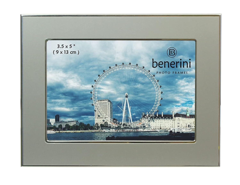 benerini Photo Größe 3,5 x 5 Zoll (9 x 13 cm) - Matt Silber Farbe ...