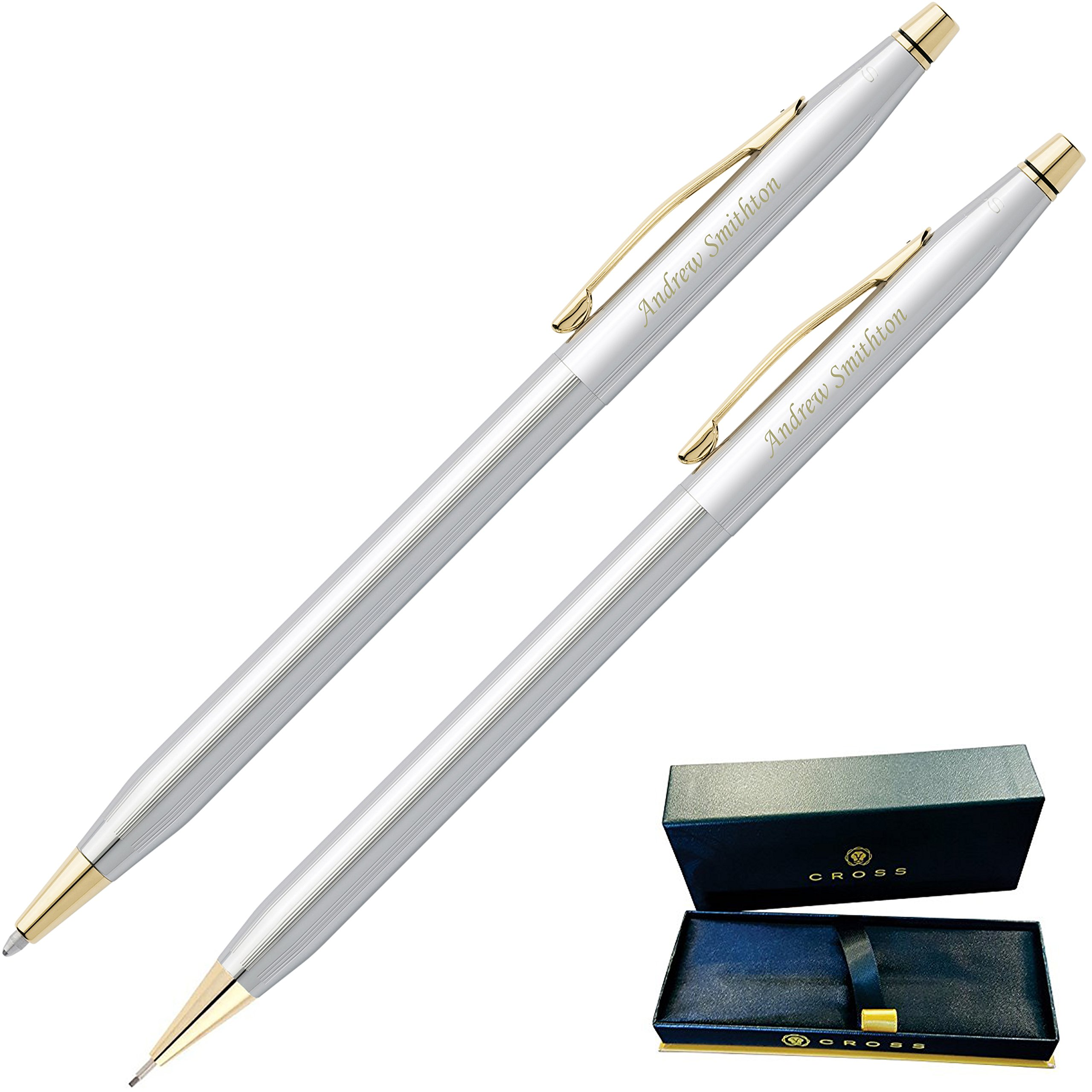 Dayspring Pens - Engraved / Personalized CROSS Classic Century Medalist Pen & Pencil Set 330105. Custom Engraved Fast!