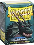 Dragon Shield - Box of 100 Highest Quality Trading Card Sleeves - Green