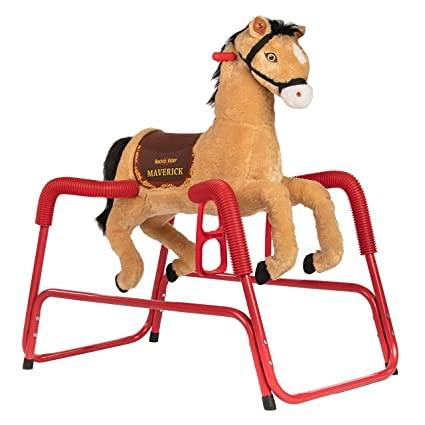 Amazon.com: Rockin Rider Maverick caballo de peluche ...