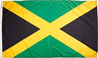 product image for Annin Flagmakers Model 194244 Jamaica Flag Nylon SolarGuard NYL-Glo, 5x8 ft, 100% Made in USA to Official United Nations Design Specifications