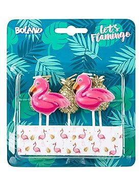 5 Mini Velas * Rosa Flamingo * como decoración de cumpleaños o Fiesta temática * Vela Decorativa de Mesa