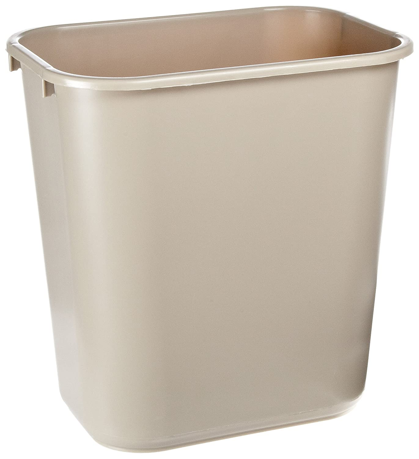 Rubbermaid Commercial Products FG295600BEIG Plastic Resin Deskside Wastebasket, 7 Gallon/28 Quart, Beige (Pack of 12)