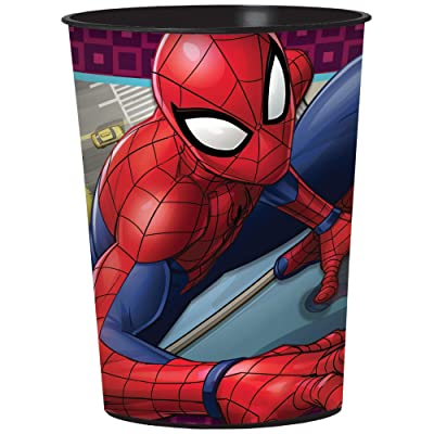 16 Ounce Spiderman Webbed Wonder Birthday Party Favor Cup: Toys & Games