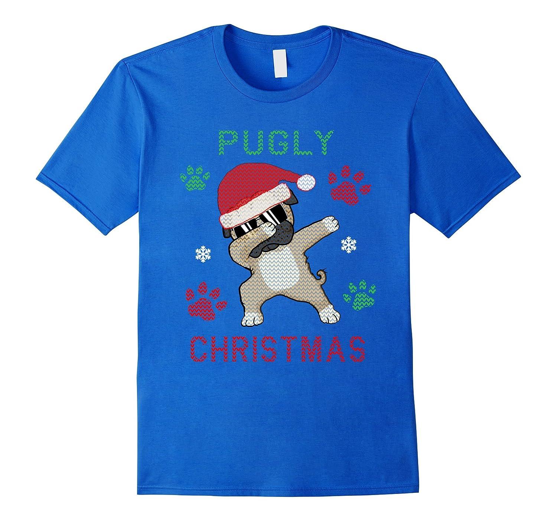 6c7dcc124c7b Dabbing Pug Christmas Shirt Ugly Pugly Christmas Sweater Tee-ANZ ...